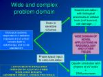 wide and complex problem domain