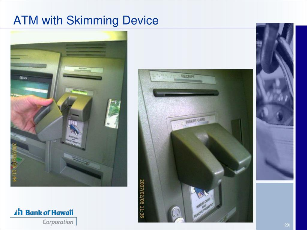 ATM with Skimming Device