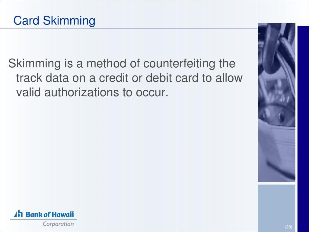 Card Skimming