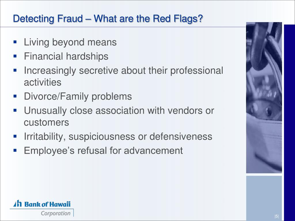 Detecting Fraud – What are the Red Flags?