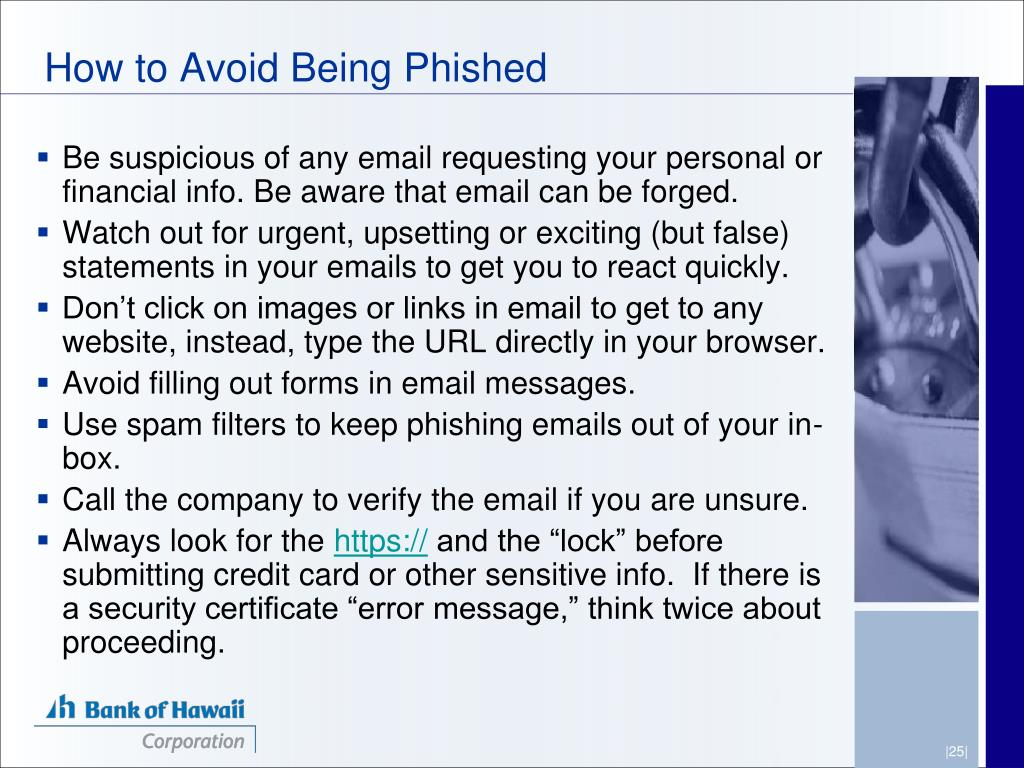 How to Avoid Being Phished