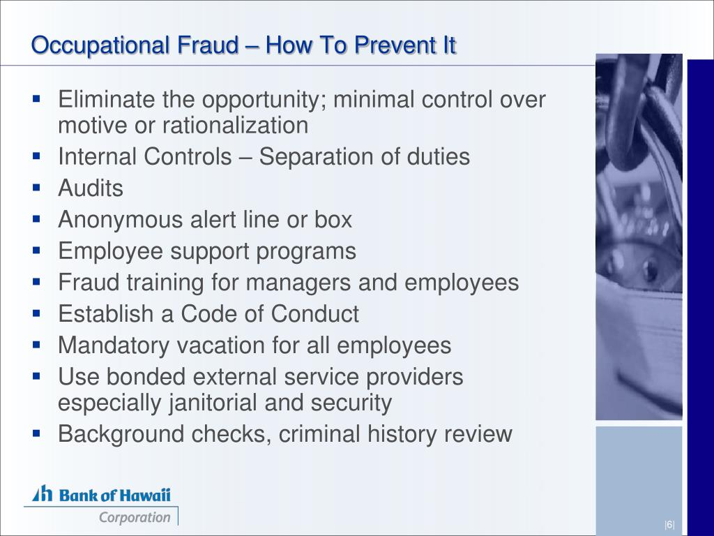 Occupational Fraud – How To Prevent It