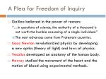 a plea for freedom of inquiry