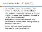 alexander bain 1818 1903