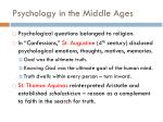 psychology in the middle ages