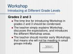 workshop introducing at different grade levels24