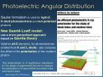photoelectric angular distribution
