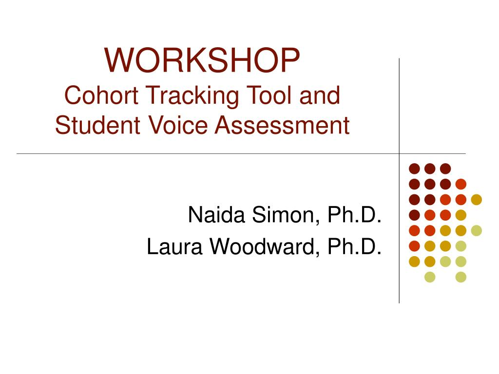 workshop cohort tracking tool and student voice assessment l.