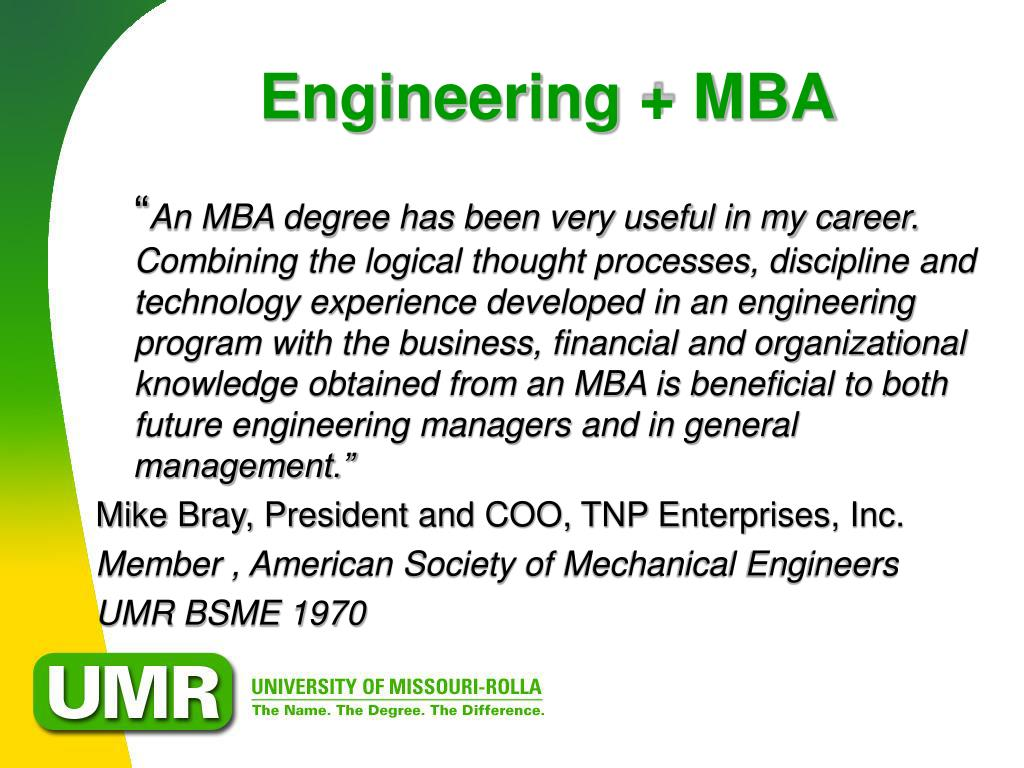 Engineering + MBA