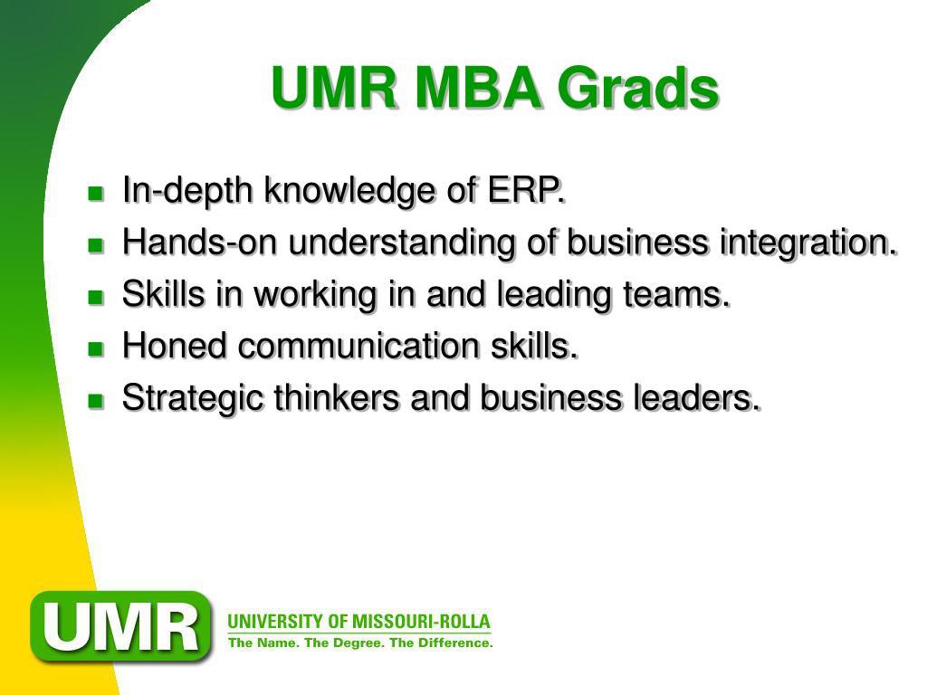 UMR MBA Grads