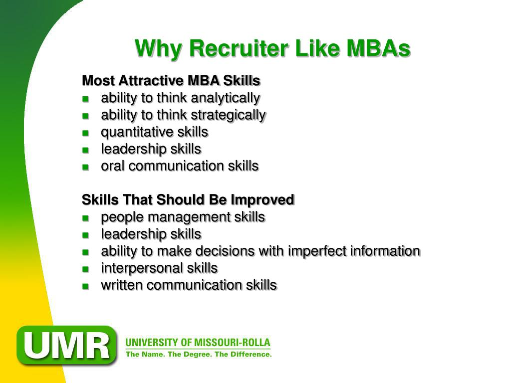 Why Recruiter Like MBAs