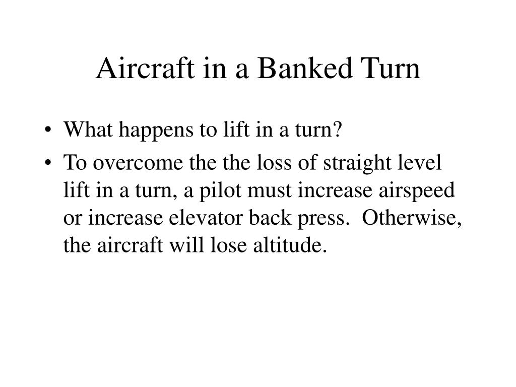 Aircraft in a Banked Turn