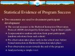 statistical evidence of program success2