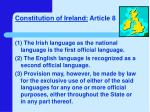 constitution of ireland article 8