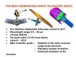 the next generation space telescope ngst
