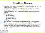 condition names