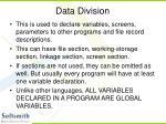 data division