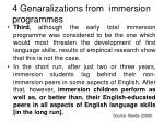 4 genaralizations from immersion programmes10