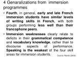 4 genaralizations from immersion programmes11