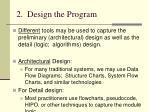 2 design the program17