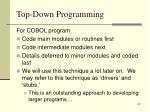 top down programming39