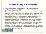 introductory comments