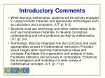 introductory comments38
