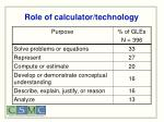 role of calculator technology