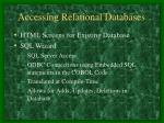 accessing relational databases