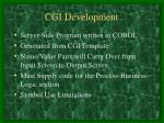 cgi development