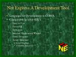 net express a development tool