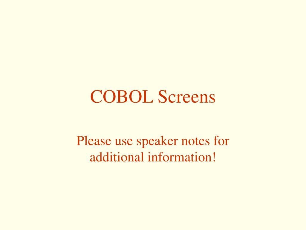 cobol screens l.