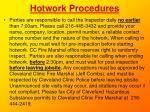 hotwork procedures