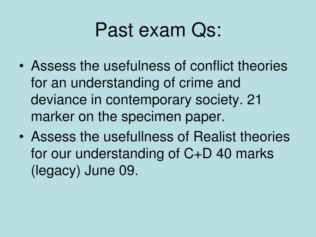 past exams