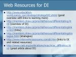 web resources for di