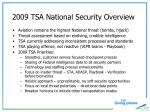2009 tsa national security overview