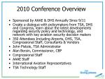 2010 conference overview