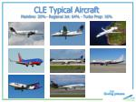 cle typical aircraft mainline 20 regional jet 64 turbo prop 16