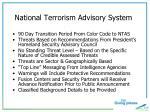 national terrorism advisory system