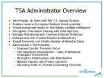 tsa administrator overview