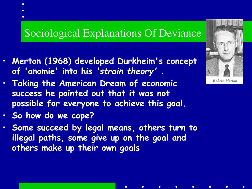 sociological explanations of deviance l.