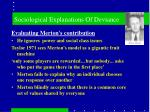 sociological explanations of deviance7