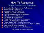 how to resources simple step by step procedures