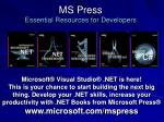 ms press essential resources for developers