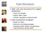 cost structure31