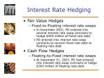 interest rate hedging