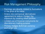 risk management philosophy
