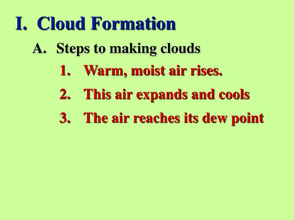 I.  Cloud Formation