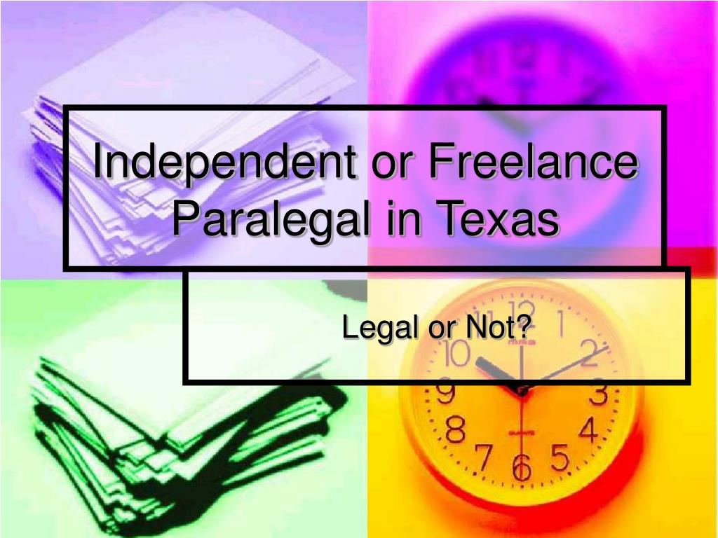 independent or freelance paralegal in texas l.