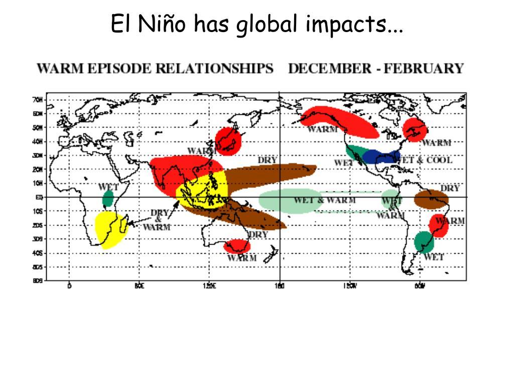 El Niño has global impacts...